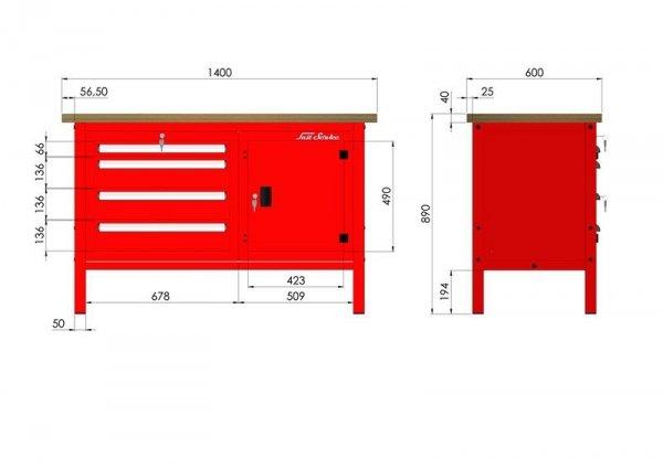 P-3-07-01 Stół warsztatowy