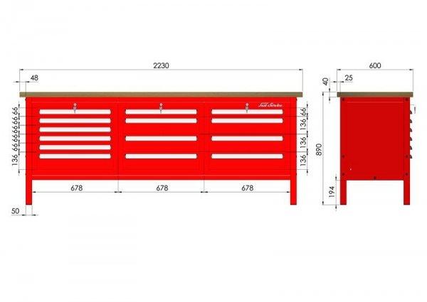 P-3-143-01 Stół warsztatowy