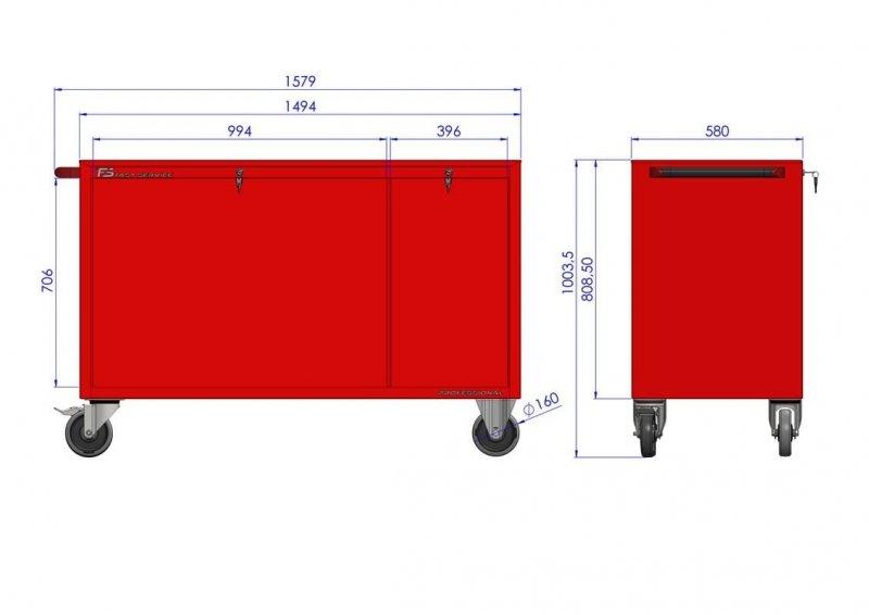 Wózek warsztatowy MEGA z 11 szufladami PM-217-22