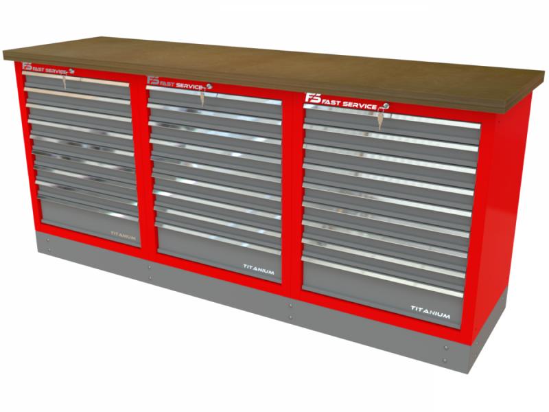 Stół narzędziowy z szufladami