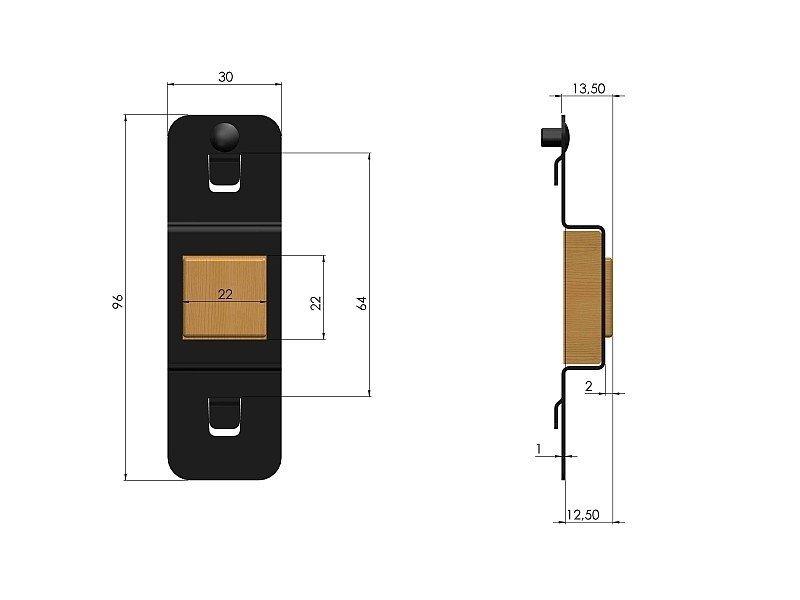 Zawieszka magnetyczna do zawieszenia 1 klucza ZWN-09