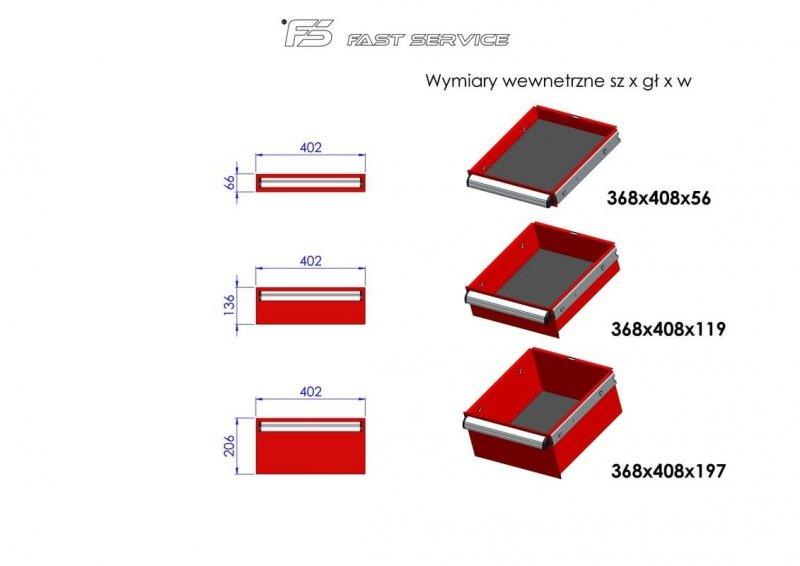 Wózek narzędziowy MEGA z 10 szufladami PM-215-21