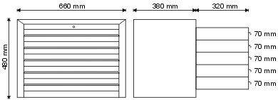 Nadstawka narzędziowa z 5 szufladami P-1-01-02
