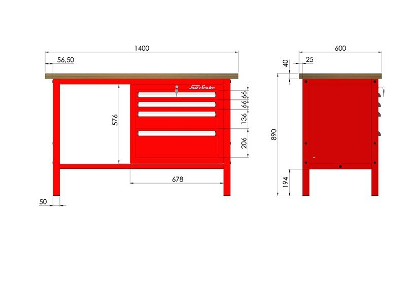 P-3-056-01 Stół warsztatowy