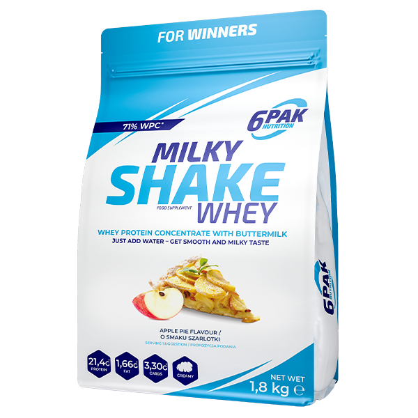 6PAK Milky Shake Whey 1800 g Apple Pie/Szarlotka