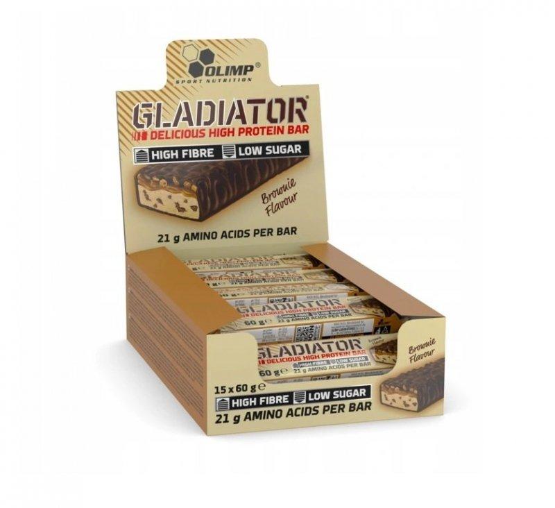 Olimp Baton Gladiator Proteinowy 15szt. Brownie