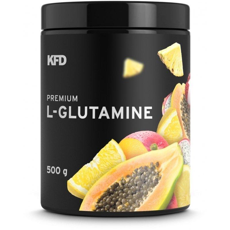 KFD Premium L- Glutamine 500g smak owoce tropikalne