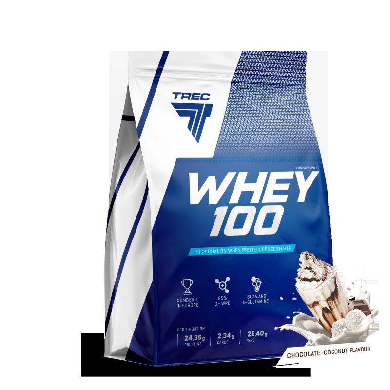 Trec Whey 100 900g białko Chocolate Coconut