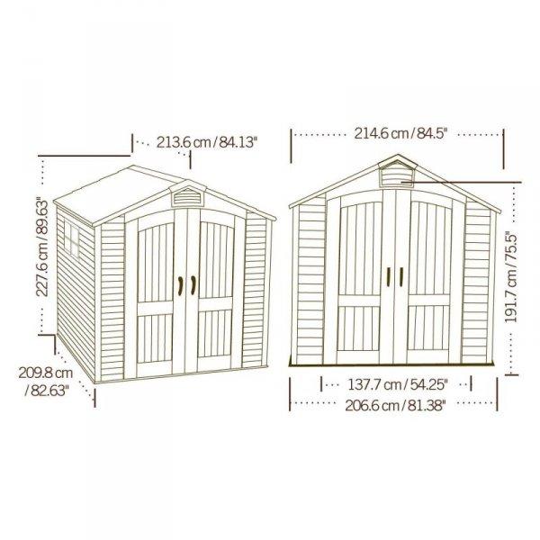 Szopa ogrodowa 213x213 cm 60014