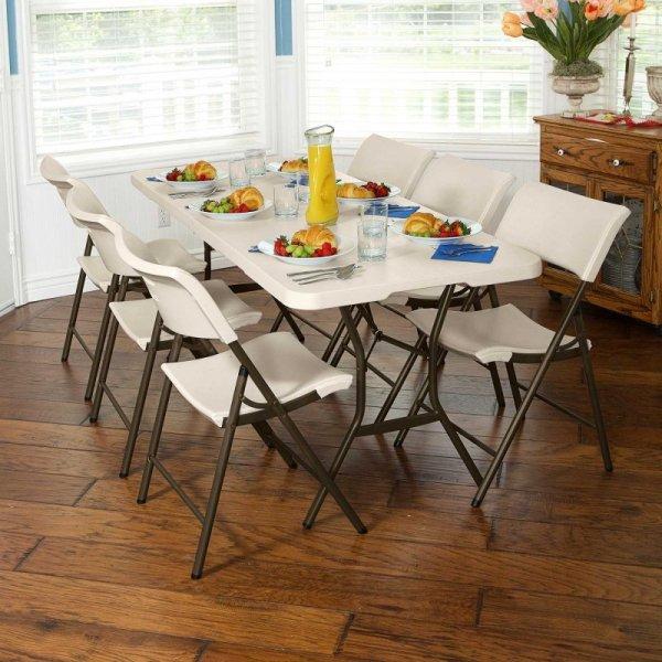 Półkomercyjne krzesło składane (migdałowy) 80142