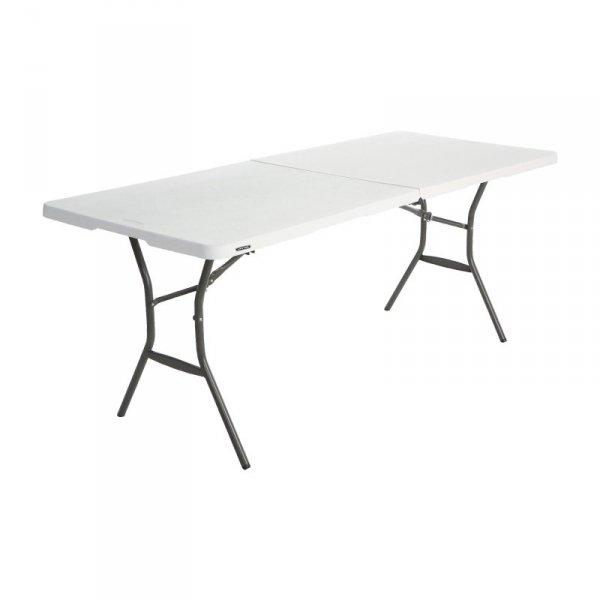 Stół składany w pół 183 cm (biały granit) 80471