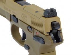 Pistolet ASG Cybergun GBB FNX-45 Tactical - Tan (200503)