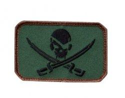 Naszywka Pirate Skull Flag Forest Green