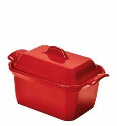 Naczynie do terriny lub pasztetu z praską - czerwone Emile Henry