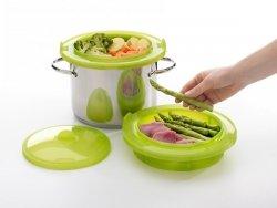 Zestaw do gotowania na parze - zielony Lekue