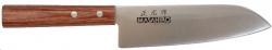 Nóż Masahiro Sankei Santoku 165mm brązowy [35921]