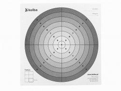 Tarcza strzelecka 1 szt. 14x14 cm biały środek