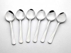 Gerlach Sztućce Celestia - komplet łyżeczek do herbaty 6 szt. dla 6 osób, matowiony