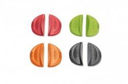Zestaw dwóch uchwytów silikonowych deBuyer Twisty kolor czerwony