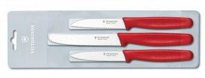 Zestaw 3 noży do jarzyn i owoców Victorinox czerwony 5.1111.3