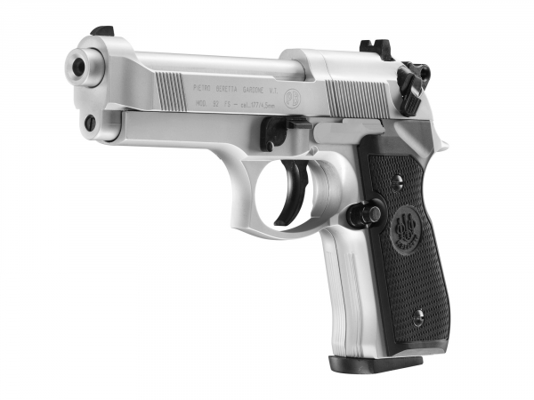 Pistolet Beretta M 92 FS nickel 4.5 mm
