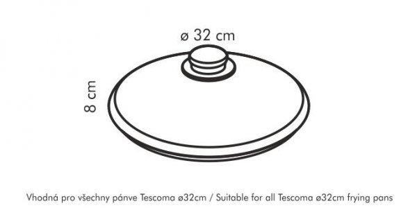 Szklana pokrywka UNICOVER ø 32cm Tescoma
