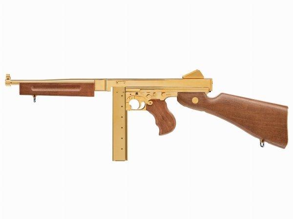 Pistolet maszynowy Legends M1A1 4,5 mm full-auto złoty