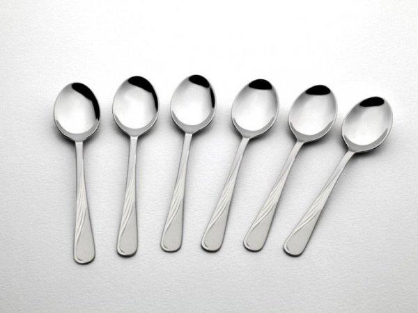 Gerlach Sztućce Celestia - komplet łyżeczek do kawy 6 szt. dla 6 osób, wysoki połysk