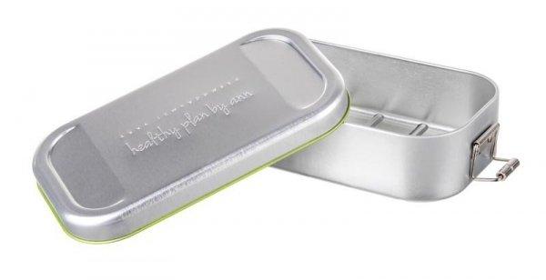 AL - Lunch box stalowy w pokrowcu szarym