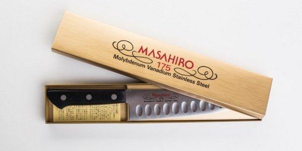 Nóż Masahiro BWH Santoku Dimple 175mm [14079]