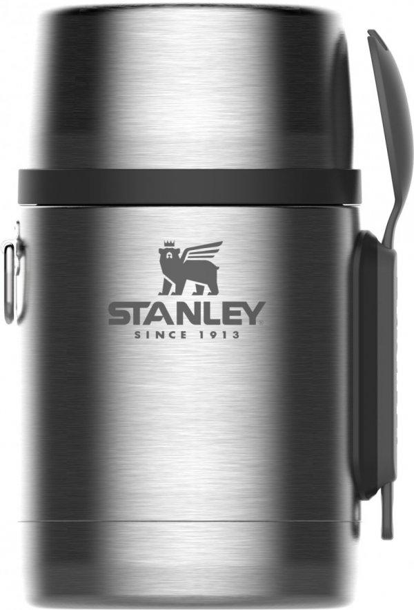 Termos obiadowy ze sztućcami ADVENTURE - srebrny 0.53L / Stanley