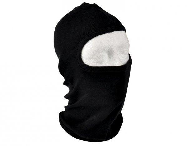Kominiarka bawełniana Texar z 1 otworem na oczy i nos - czarna