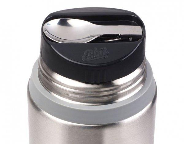 Termos obiadowy Esbit Food Jug 0,75 l Steel grey - zestaw (FJ750SP-SG)