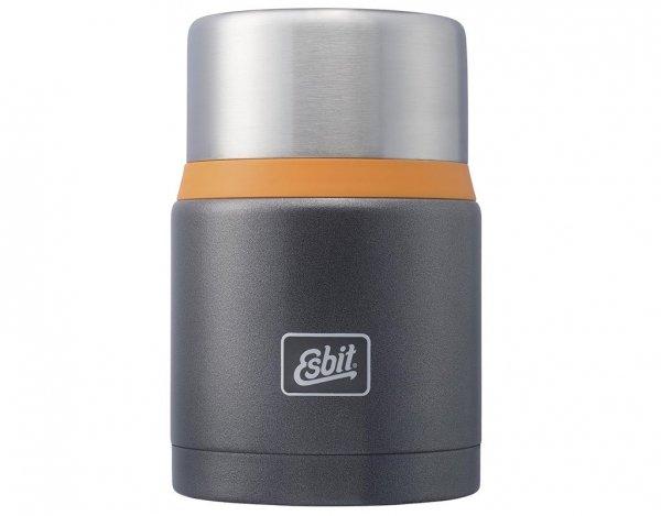 Termos obiadowy Esbit Food Jug 0,75 l Grey Orange - zestaw (FJ750SP-GO)