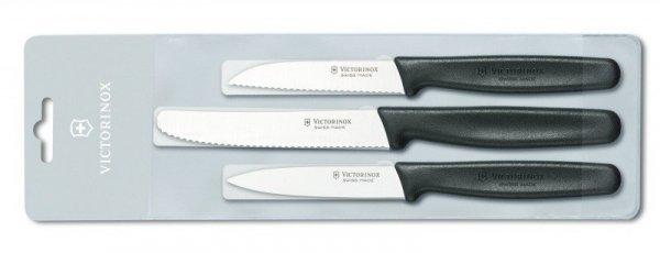 Zestaw 3 noży do jarzyn i owoców Victorinox czarny  5.1113.3