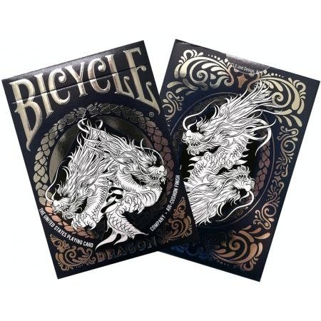 Karty Bicycle Dragon White