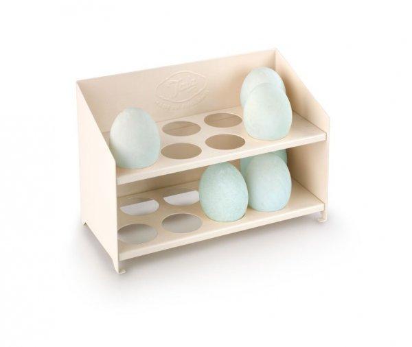 Stojak na jajka emaliowany – kremowy Tala