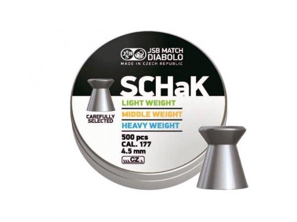 Śrut diabolo JSB Schak 500 LG 4,50 mm 500 szt.