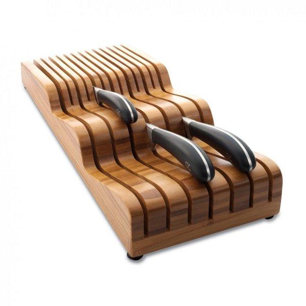 Wkład do szuflady na noże SIGNATURE - bambusowy / Robert Welch