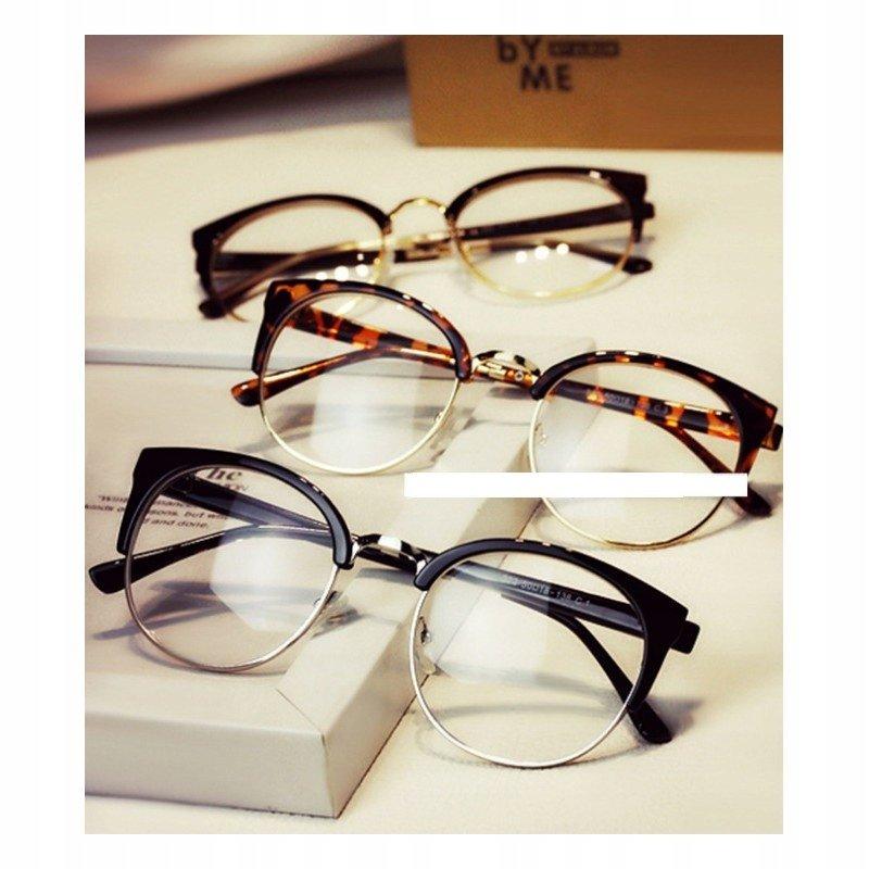 Pretty - Okulary Zerówki - Brązowe