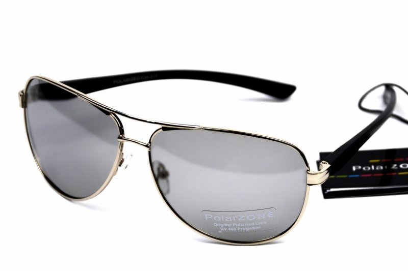 Zeus - Okulary Fotochromowe Polaryzacyjne - Srebrne