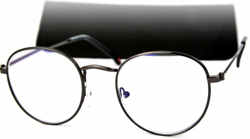 Gemis +1,0  - Okulary Korekcyjne do pracy przy komputerze - Czarne