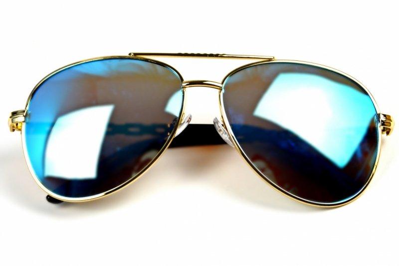 Gold Card - Okulary Polaryzacyjne - Niebieskie