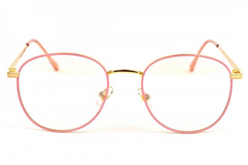Victoria - Okulary Zerówki z Antyrefleksem - Różowe