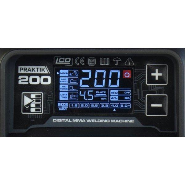 SPAWARKA INWERTOROWA PRAKTIK 200 LCD SYNERGY