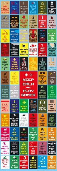 Keep Calm and Play Games - plakat