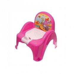 Nocnik-krzesełko safari różowy