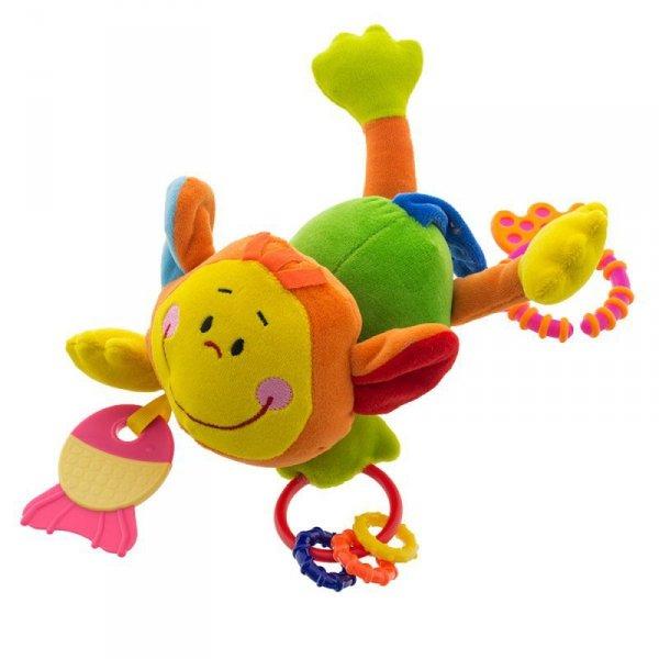 Zabawka małpka z grzechotkami