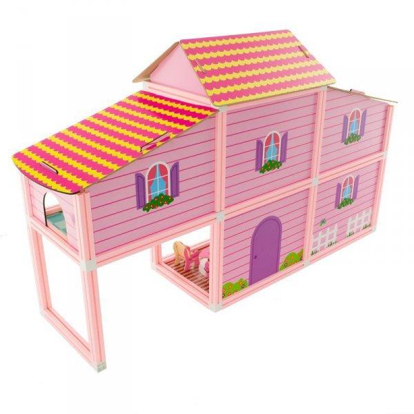 Domek dla lalek różowy