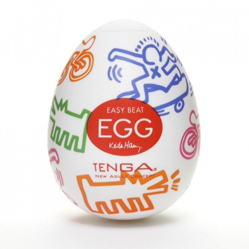 Japoński masturbator - Tenga Keith Haring Egg Street 1szt